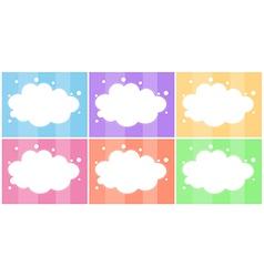 Six empty templates vector image