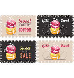 tag of macaron vector image vector image