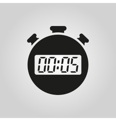 The 5 seconds minutes stopwatch icon clock and vector