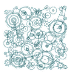 Transparent cogs gears on white background vector