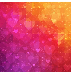 Valentines Day background with triangle texture vector image