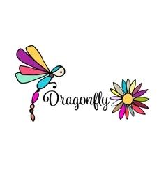 Art dragonfly sketch for your design vector