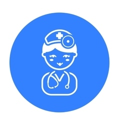 Doctor black icon for web and mobile vector image