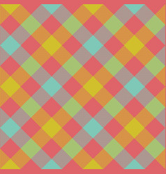 Diagonal checkered plaid seamless pattern vector
