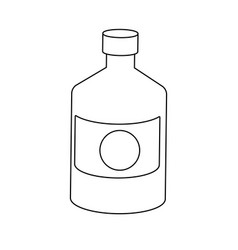 Bottle medicine pharmacy element health vector
