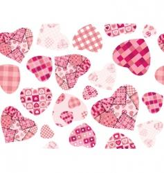 texture hearts vector image