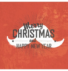 Merry christmas vintage greeting vector