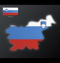 Slovenia map vector