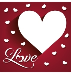 Love and hearts card vector