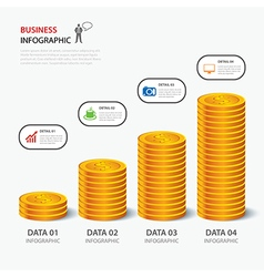 Money business plan infographic flat design vector