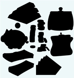 Set of valuable things vector