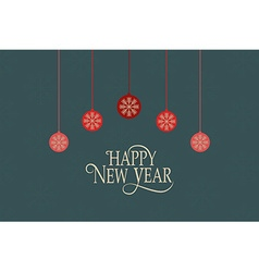 Hand sketched happy new year logotype badge and vector