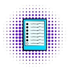 Diagram of brain activity icon comics style vector image