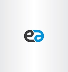 Logo letter e and a combination icon vector