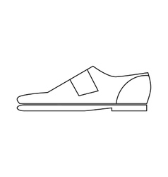 Male shoe icon in outline style vector