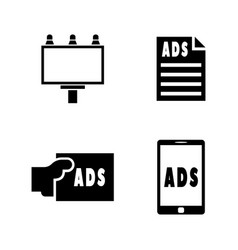 advertisement simple related icons vector image vector image