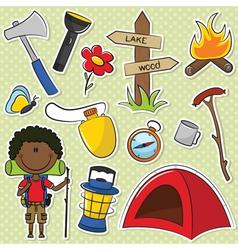 African-American Hiker Boy vector image vector image
