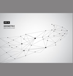 Black and white geometric graphic background vector