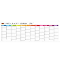 Calendar 2014 german type 3 vector