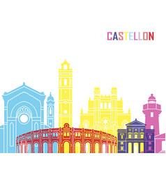 Castellon skyline pop vector