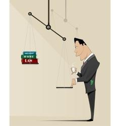 Corruption concept vector image