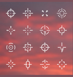 Crosshairs set different sights vector