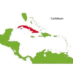 Cuba map vector image