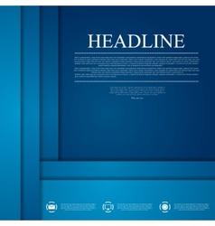 Dark blue corporate tech art vector