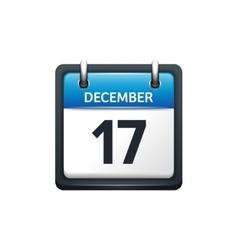 December 17 calendar icon vector