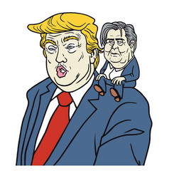 Donald trump with chief strategist steve bannon vector