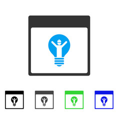 Electrician calendar page flat icon vector