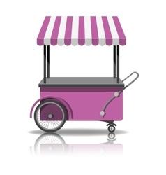 Ice cream cart vector image vector image
