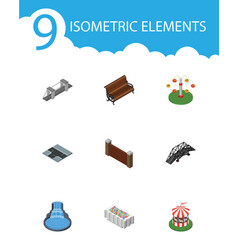 Isometric architecture set of highway swing vector