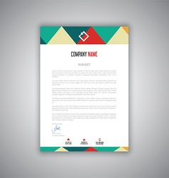 letterhead design 1008 vector image vector image
