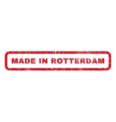 Made in rotterdam rubber stamp vector