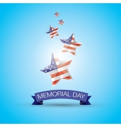 Memorial Day with star in national flag colors vector image
