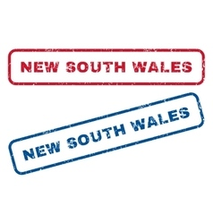 New South Wales Rubber Stamps vector image