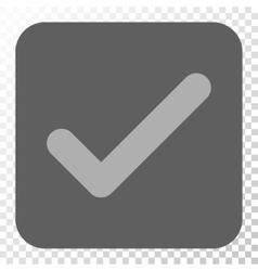 Ok Rounded Square Button vector image