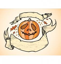 pumpkin banners vector image vector image