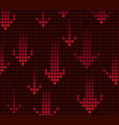 red light arrow background vector image vector image