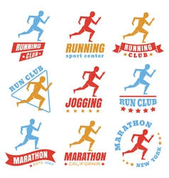 running logos color vector image