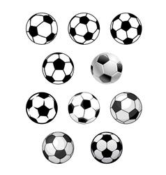 Set of soccer and football balls vector image vector image