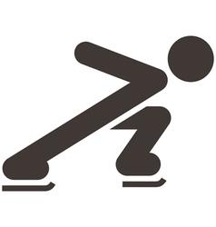 Skate icon vector