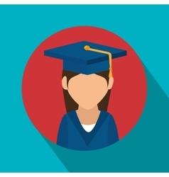 Student graduation school set elements design vector