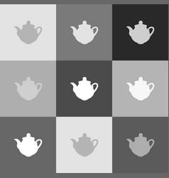 tea maker kitchen sign grayscale version vector image vector image