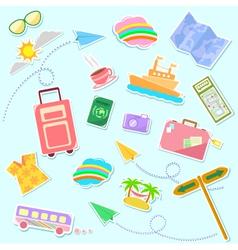 travel symbols vector image