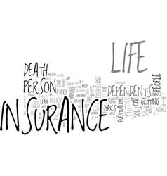 Why should you get life insurance text word cloud vector