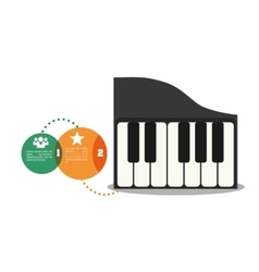 Piano music sound infographic vector