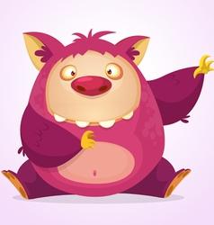 Happy cartoon Halloween monster vector image