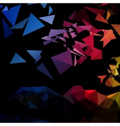 Triangular style abstract background of triangles vector